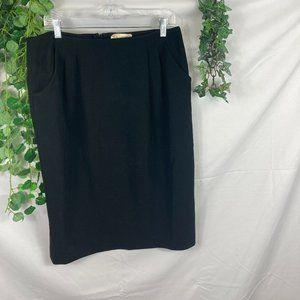 M M Lafleur vintage pleated pencil skirt